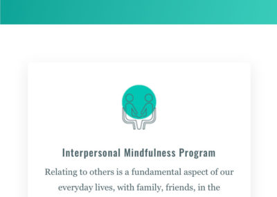Interpersonal mindfulness centre website page