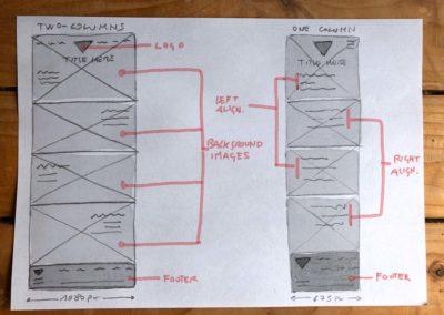 Surflanguage website low-fi sketches