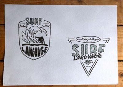 Surflanguage logo study