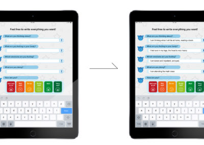 MESC App interaction flow screens