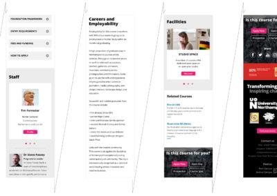 University of Northampton old website web page