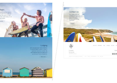 Second portion of the surf language website home page