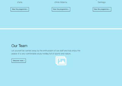 Surflanguage website wireframes