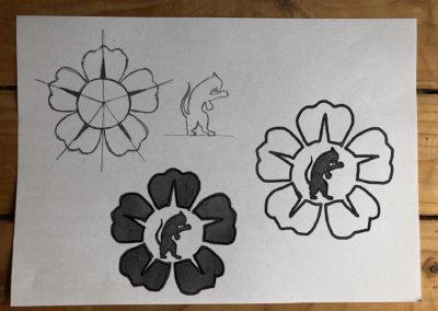 Nekobukai logo sketches